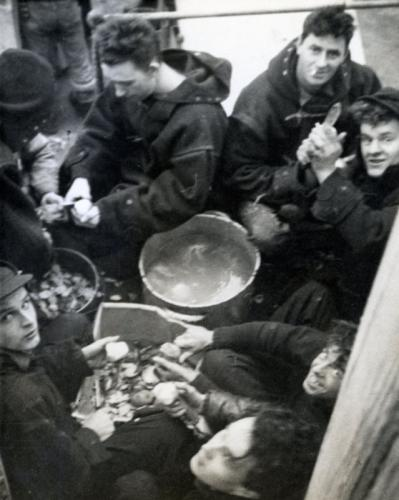 Peeling Potatoes - WW II