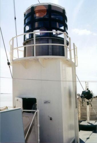 Sackville - Type 271 radar lantern - closeup